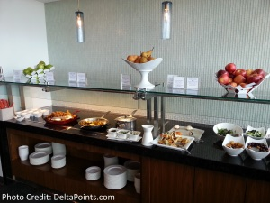Centurion Lounge LGA LaGuardia Airport american express delta points blog buttet (2)