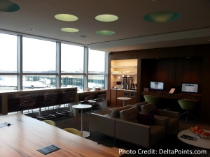 Centurion Lounge LGA LaGuardia Airport american express delta points blog first room off checkin (2)