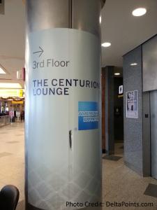 Centurion Lounge LGA LaGuardia Airport american express delta points blog inside 1 to elevator