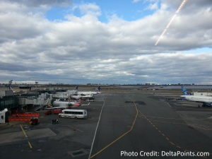 Centurion Lounge LGA LaGuardia Airport american express delta points blog view