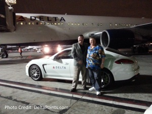rene delta points and dave texasyankee LAX airport porche ride