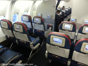 Delta 767-300 domestic comfort plus seat 3 Delta points blog