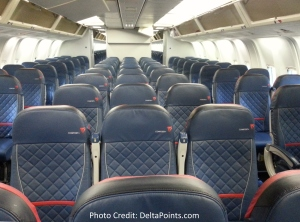 Delta 767-300 domestic comfort plus seat Delta points blog