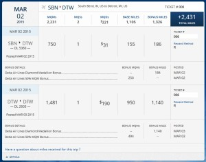 full points for PWM 1st class ticket including bonus mqms for fare class