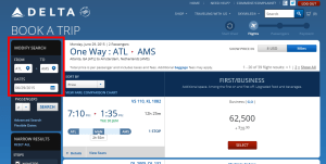atl to ams at level 1 award delta-com