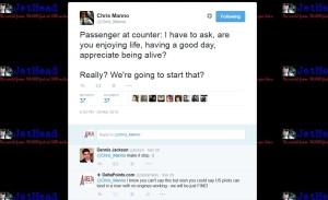 tweet from chris manno aa pilot