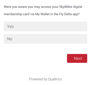 Delta Air Line Survey about SkyMiles May 2015 (12)