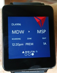 fly delta app on LG G watch android wear delta points review (10)