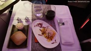 Virgin Atlantic Dining Upper Class Atlanta to Manchester Delta Points blog (2)