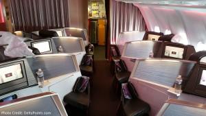 Virgin Atlantic Upper Class seats A330 Atlanta to Manchester England Delta Points blog (1)