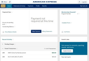 amex prg card delta egift card credit posted