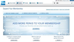 if you are logged in to amex the card landing page