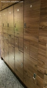 Centurion Club Miami lockers left of reception delta points blog