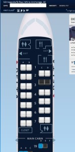 seatmap if you go to buy a seat on delta-com
