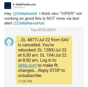 viper new DL IT rebooking issues