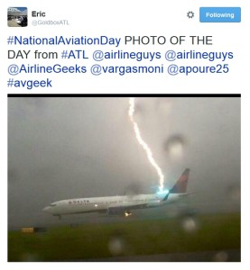 lightning strikes delta jet in atl