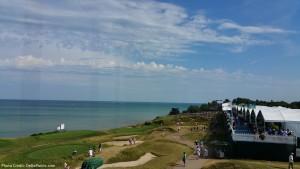 view 17th hold 2015 PGA Championship Whistling Straits Kohler Wisconsin delta points blog
