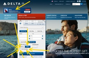 why is the -I AM TRAVELING- button still there on Delta-com