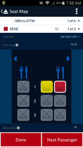 delta blocking all of 1st class seats