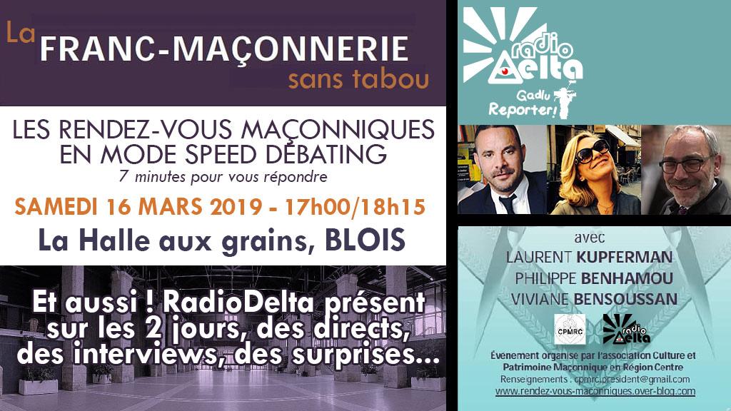 2ème « speed-debating » maç. – sam. 16 mars, 17h-18h15, en direct sur RadioDelta, présent sur les rencontres de Blois les 16 et 17 mars !