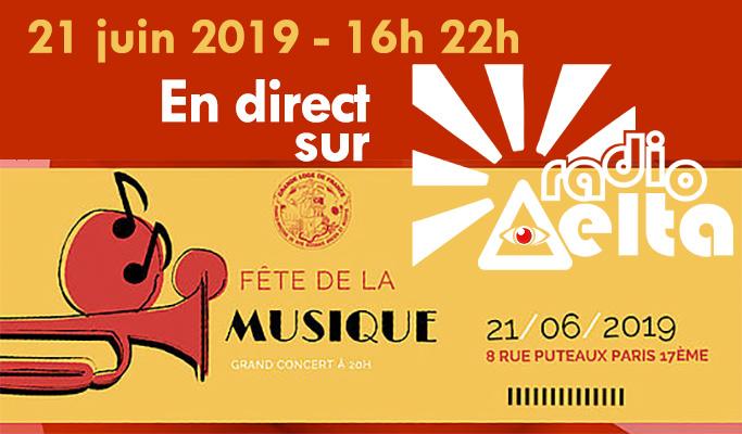 Gadlu Reporter Live ! Fête de la musique 2019 à la Grande Loge de France !