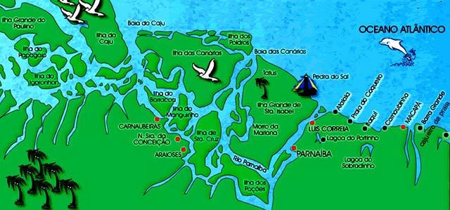 Resultado de imagem para delta do parnaiba