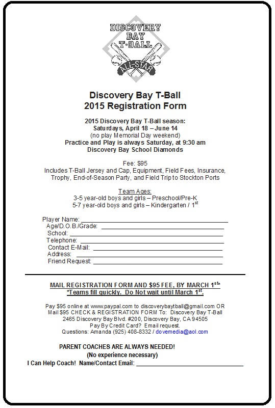 2015 TBALL REGISTRATION FORM