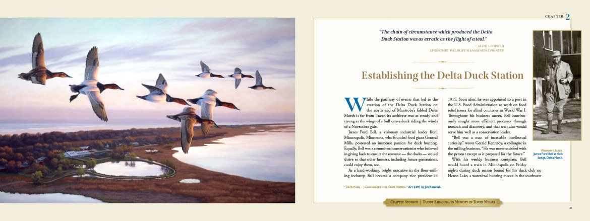 Delta Waterfowl book mockup chapter 2