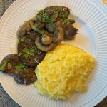 Speck Breast Medallions with Marsala and Mushrooms, Served with Creamy Polenta