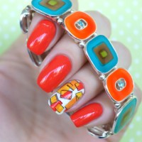 Avon Orange Crush + стемпинг с Lesly-112