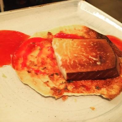 queso de cabra gratinado