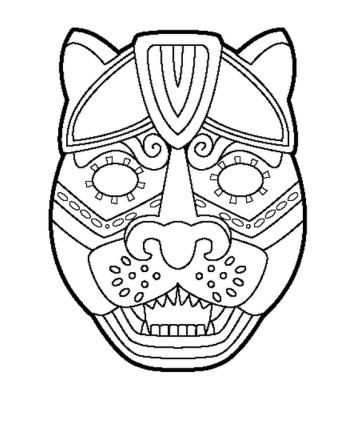 Colorear Máscaras De Luchadores De Luchadores
