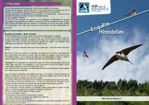 LPO Pas-de-Calais - Enquête Hirondelles - devant