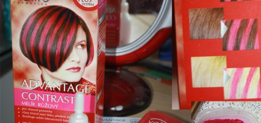 Pink hair dye kit