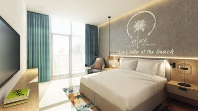 NH Dubai The Palm - Suite Bedroom rendering