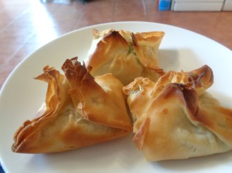Spicy Spinach and feta parcels
