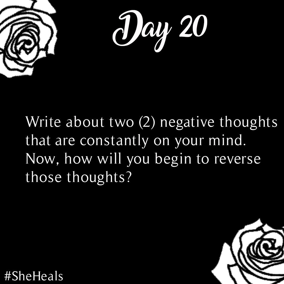 #31DaysSheHeals - Day 20