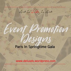 Event Promotion Designs - Paris in Springtim