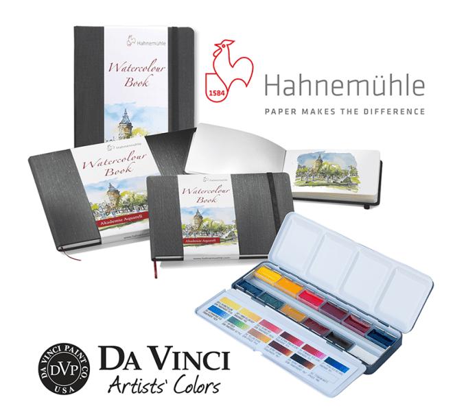 Hahnemühle-Da-Vinci-Watercolour-Travel-Set