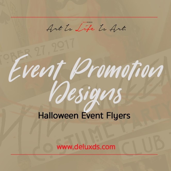 Event Promotion Designs - Halloween