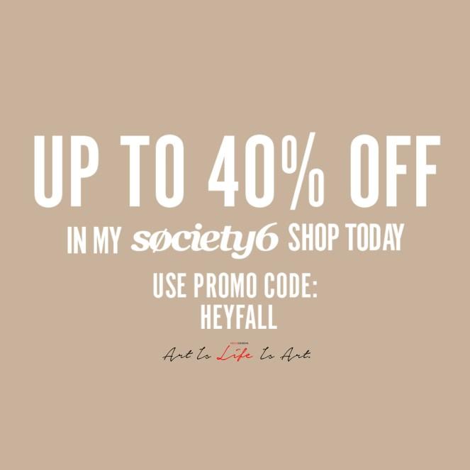 Society6 40% Off