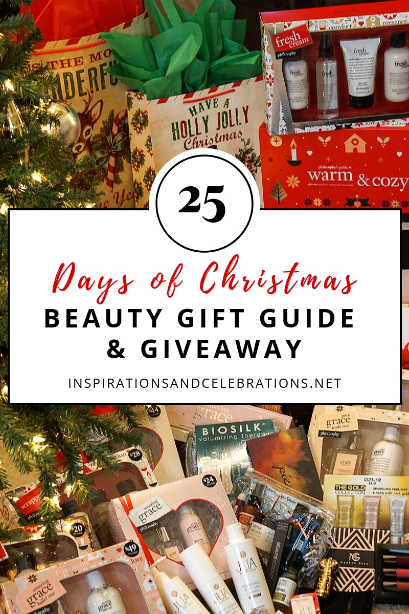 25 Days of Christmas Beauty Giveaway with Inspirations and Celebrations