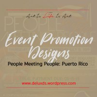 People Meeting People Puerto Rico Event Promotional Designs
