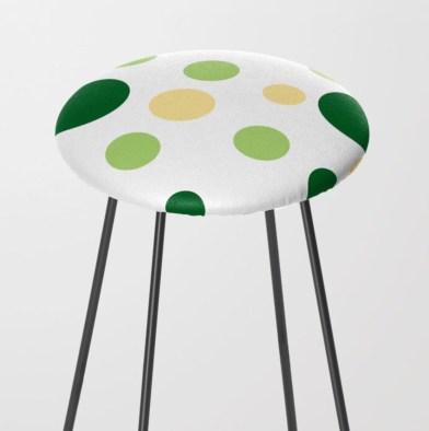 Green Dots Barstool designed by Visual Artist Keara Douglas of Delux Designs (DE), LLC