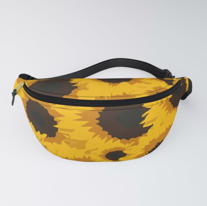 Sunflower Love Fanny Pack designed by Visual Artist Keara Douglas of Delux Designs (DE), LLC in collaboration with Society6