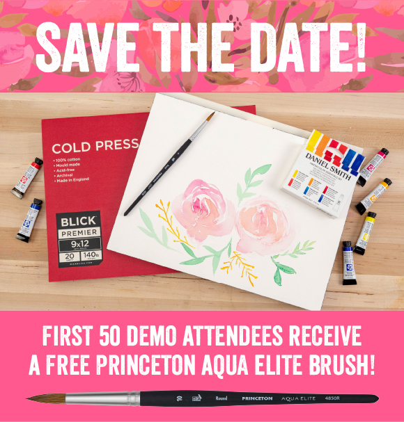 Floral Brushstrokes Watercolor Demo with Blick Art Materials