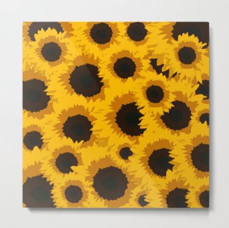 Sunflower Love Metal Print designed by Visual Artist Keara Douglas of Delux Designs (DE), LLC