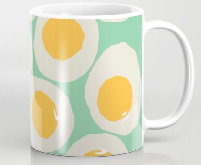 Egg Love Coffee Mug designed by Visual Artist Keara Douglas of Delux Designs (DE), LLC