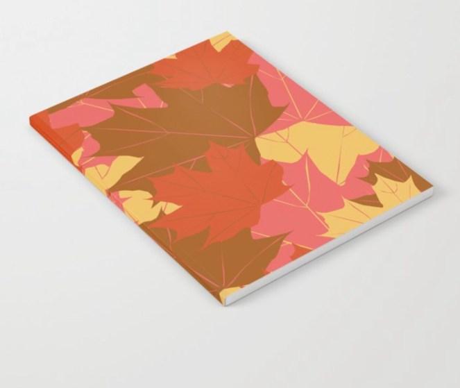 Leaf Love Notebook designed by Visual Artist Keara Douglas of Delux Designs (DE), LLC