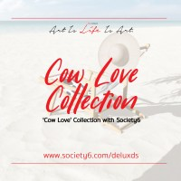 'Cow Love' Collection with Society6